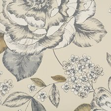 Blue/Brown/Creme Transitional Wallcovering by JF Wallpapers