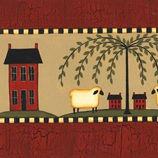 Red Country Wallpaper Wallcovering by Brewster