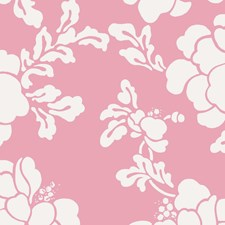 Pink Floral Wallcovering by Stroheim Wallpaper