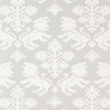 Ivory On Silver Wallcovering by Schumacher