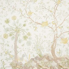 Green/Yellow Wallcovering by Schumacher Wallpaper