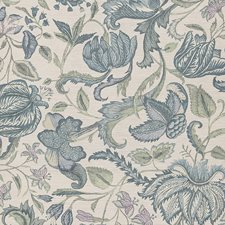 Blue Traditional Wallcovering by JF Wallpapers