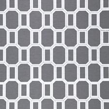 White On Charcoal Vinyl Silk Wallcovering by Phillip Jeffries Wallpaper