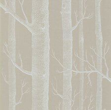 White/Taupe Wallcovering by Cole & Son Wallpaper