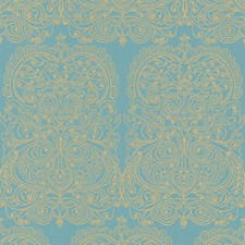 Gold/Aqua Wallcovering by Cole & Son Wallpaper
