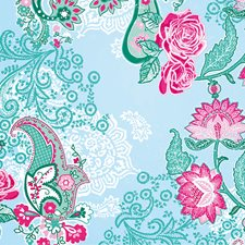 8-739 Paisley Rose Wall Mural by Brewster