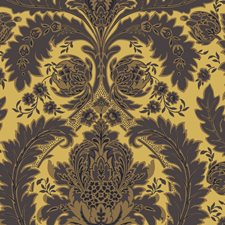 Yellow Gold and Black Wallcovering by Cole & Son Wallpaper