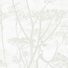 White Botanical Wallcovering by Cole & Son Wallpaper