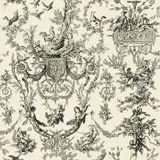 Beige/Black Toile Wallcovering by York