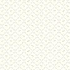 White/Pale Gray/Tan Botanical Wallcovering by York