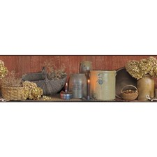 Brown/Grey/Taupe Country Wallcovering by York