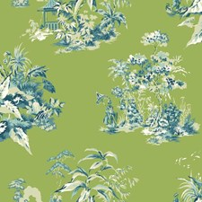 Green/Blue Traditional Wallcovering by York