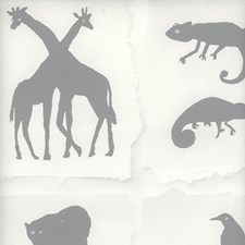 Cloud Animal Wallcovering by Andrew Martin Wallpaper