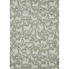 Silver Animal Wallcovering by Andrew Martin Wallpaper