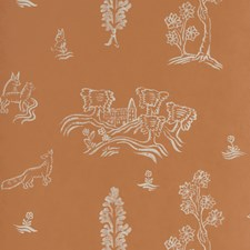 Melon Orange Novelty Wallcovering by Andrew Martin Wallpaper