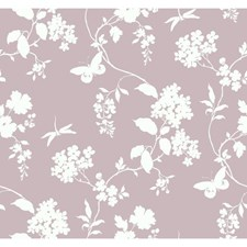Lilac/White Wall Décor Wallcovering by York