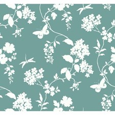 Teal/Cream Wall Décor Wallcovering by York