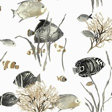 White/Pale Grey to Black/Beige Animals Wallcovering by York