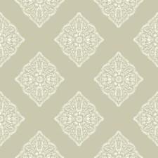 Beige/White Geometrics Wallcovering by York