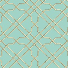 Aqua/Beige/Light Brown Traditional Wallcovering by York
