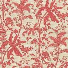 Coral/Cream/Beige Botanical Wallcovering by York