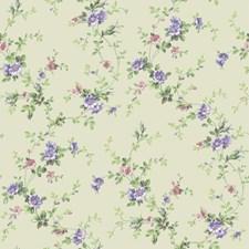 Cream/Lavender/White Botanical Wallcovering by York