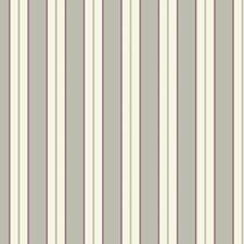 Cream/Medium Grey/Black Raspberry Ice Stripes Wallcovering by York