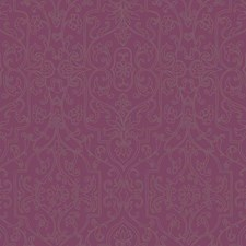 Deep Amethyst/Silver Glass Beads Wallcovering by York