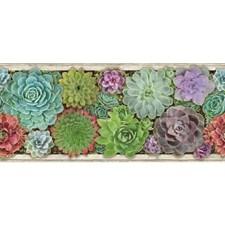 Green/Purple Botanical Wallcovering by York