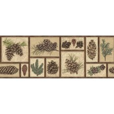 Beige/Green/Brown Botanical Wallcovering by York