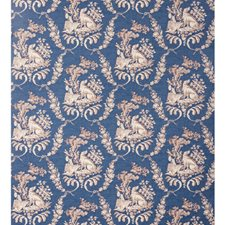 Oxford Blue Animal Wallcovering by Brunschwig & Fils