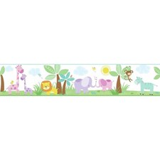 White/Pinks/Purples Animals Wallcovering by York