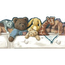 White/Beige/Tan Animals Wallcovering by York