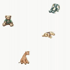 White/Grey/Tan Animals Wallcovering by York