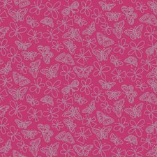 Bright Pink/Silver Animals Wallcovering by York