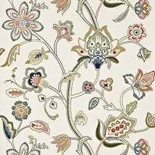 Cream/Multi Wallcovering by G P & J Baker