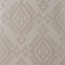 Pewter Geometric Wallcovering by G P & J Baker