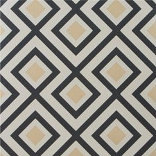 Charcoal Geometric Wallcovering by G P & J Baker