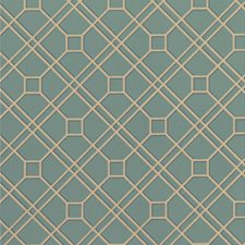 Teal/Bronze Wallcovering by G P & J Baker