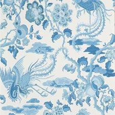 Blue Animal Wallcovering by G P & J Baker