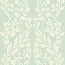 Green/White Botanical Wallcovering by York