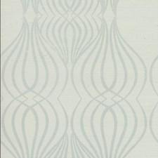 Blue/White/Metallic Geometrics Wallcovering by York