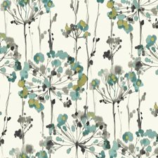 White/Turquoise/Grey Floral Wallcovering by York