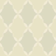 Dark Beige/Cream/Silver Trellis Wallcovering by York
