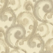Cream/Light Taupe/Dark Beige Traditional Wallcovering by York