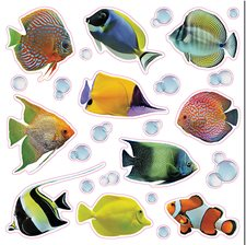 CR-64004 Fish And Bubbles Window Decals by Brewster