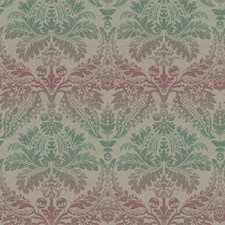 Taupe/Teal/Magenta Damask Wallcovering by York