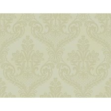 Platinum Sheen/Dull Silver/Bisque Traditional Wallcovering by York