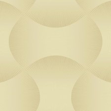 Light Grey/Metallic Gold Geometrics Wallcovering by York