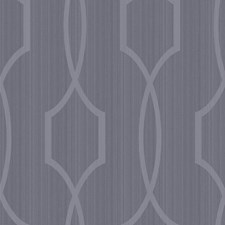 Shining Silver/Slate Blue Trellis Wallcovering by York